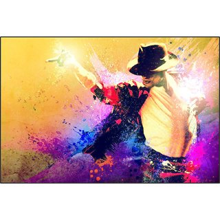 Impression Wall Michael Jackson  Poster Without Frame ( 12 X 18 inch )
