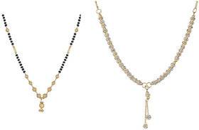 Bhagya Lakshmi Traditional Gold Plated Mangalsutra Combo For Women
