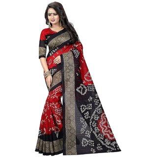 498d1f16063e4f Buy Gift Icon Women s Multicolor Block Print Cotton Saree with ...