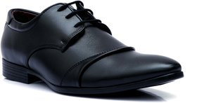 Enzo Cardini Men's Black Synthetic Derby Formal Shoes
