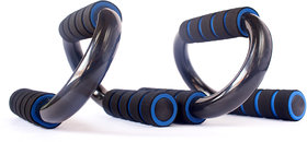 Skycandle Steel Push-UP Bars/Stands with Foam Handles for Men  Women Pectorals Muscle Building, S Shape Fitness Push-up Bars Push up Stand Bar for Home and Gym Fitness - Blue