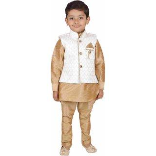 AJ Dezines Kids party wear Kurta Pyjama Waistcoat Set for Boys