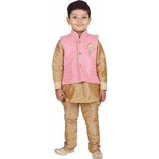 AJ Dezines Kids Kurta Pyjama Waistcoat Set for Boys