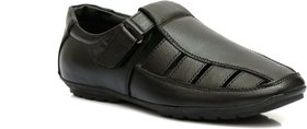 Enzo Cardini Men's Black Synthetic Casual Sandal
