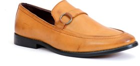 Enzo Cardini Men's Tan Synthetic Moccasion Formal Shoes
