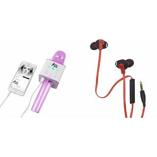 Mirza Q7 Microphone and Earphone Headset for SAMSUNG G 9198(Q7 Mic and Karoke with bluetooth speaker | Earphone Headset )