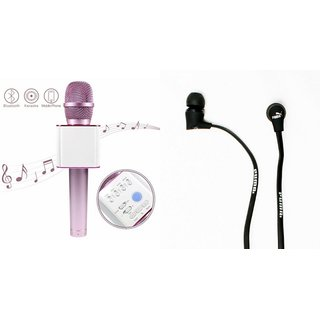 Mirza Q7 Microphone and Earphone Headset for LENOVO k3 note(Q7 Mic and Karoke with bluetooth speaker | Earphone Headset )