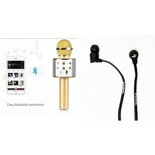 Mirza Q7 Microphone and Earphone Headset for Infocus Turbo 5(Q7 Mic and Karoke with bluetooth speaker | Earphone Headset )