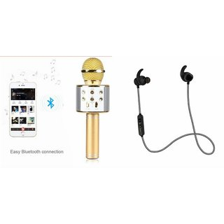 Mirza Q7 Microphone and Reflect Earphone Headset for LENOVO k3 note music(Q7 Mic and Karoke with bluetooth speaker | Reflect Earphone Headset )