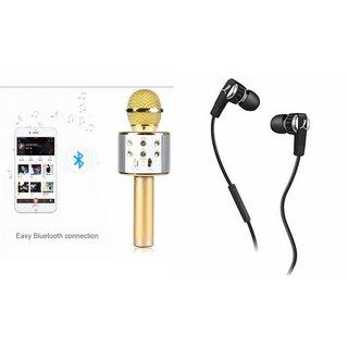 Zemini Q7 Microphone and Earphone Headset for MOTOROLA moto g forte(Q7 Mic and Karoke with bluetooth speaker   Earphone Headset )