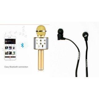 Zemini Q7 Microphone and Earphone Headset for HTC U play(Q7 Mic and Karoke with bluetooth speaker   Earphone Headset )