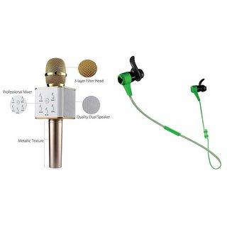 Zemini Q7 Microphone and Reflect Earphone Headset for PANASONIC T4 1(Q7 Mic and Karoke with bluetooth speaker | Reflect Earphone Headset )