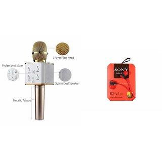 Zemini Q7 Microphone and Earphone Headset for Infocus Turbo 5(Q7 Mic and Karoke with bluetooth speaker | Earphone Headset )
