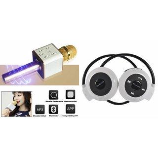 Zemini Q7 Microphone and Mini 503 Bluetooth Headset  for XOLO Q710S(Q7 Mic and Karoke with bluetooth speaker | Mini 503 Bluetooth Headset With Mic)