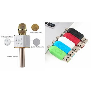 Zemini Q7 Microphone and Card Reader for LG L FINE(Q7 Mic and Karoke with bluetooth speaker | Card Reader, Mobile Card Reader )