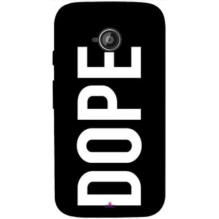 Snooky Printed 956,Black Dope Mobile Back Cover of Motorola Moto E2 - Multi