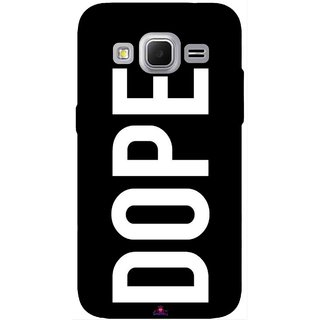 Snooky Printed 956,Black Dope Mobile Back Cover of Samsung Galaxy Core Prime - Multi