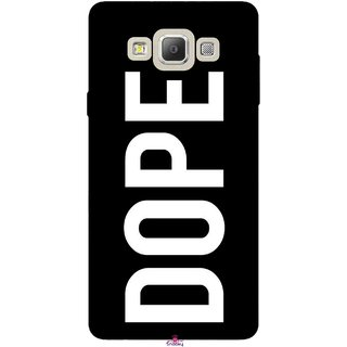 Snooky Printed 956,Black Dope Mobile Back Cover of Samsung Galaxy E5 - Multi