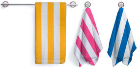 fabzi Set of 3 Terry Bath Towel Multi