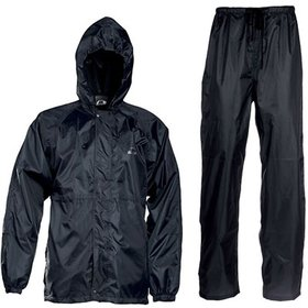 3 in 1 Black Men's Raincoat With Lower And Cap By Unique Collection