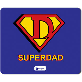 Indigifts Fathers Day Gifts From Daughter SuperDad Quote Blue Mouse Pad 85x7 Inches Best Birthday Gift For Papa Dad Parents Anniversary