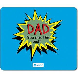 Indigifts Fathers Day Gifts Dad You Are Best Quote Blue Mouse Pad 85x7 Inches Birthday Gift For Papa Father In Law Parents Anniversary