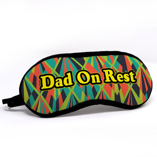 Indigift Father Birthday Gifts Dad On Rest Quote Modern Geometric Illustration Multi Sleep Mask For Eye 78X33 Inch