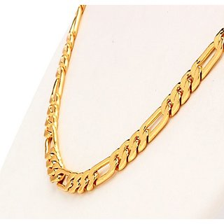 Gold Plated Stylish heavy Sachin Chain For Men's With 6 Months Guaranteed Plating 22 inches Size