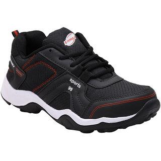 Fhonex Men's Black Lace-up Running Shoes