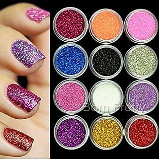 Multi Color Glitter Eye Pigment HOT NEW 12 PCS - FOR WOMEN