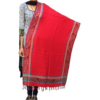 Varun Cloth House Womens Side Bordered Self Embellished Woolen Stole