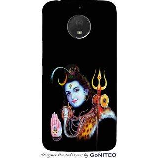 Printed Mobile Phone Back Cover Case for Moto E4 Plus by GoNITEO || Shankar || Neelkanth || Shiva ||