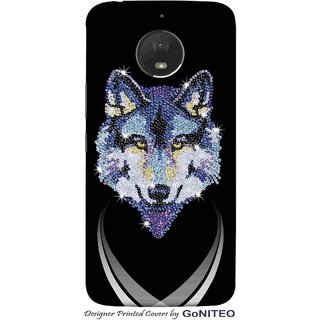 Printed Mobile Phone Back Cover Case for Moto E4 Plus by GoNITEO || Wolf || Bling || Art ||