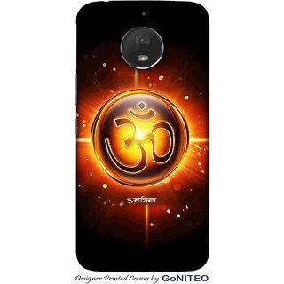 Printed Mobile Phone Back Cover Case for Moto E4 Plus by GoNITEO || Om || Hindu || God ||