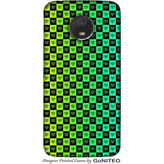 Printed Mobile Phone Back Cover Case for Moto E4 Plus by GoNITEO || Hearts || Shades || Green ||