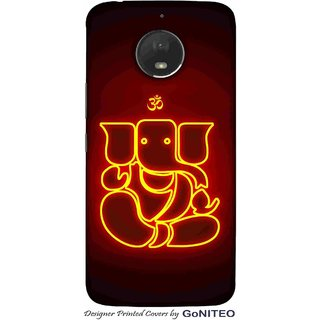 Printed Mobile Phone Back Cover Case for Moto E4 Plus by GoNITEO || Ganesha || Lord || Om ||