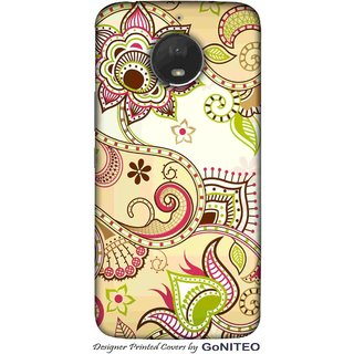Printed Mobile Phone Back Cover Case for Moto E4 Plus by GoNITEO || Flower || Art || Painting ||