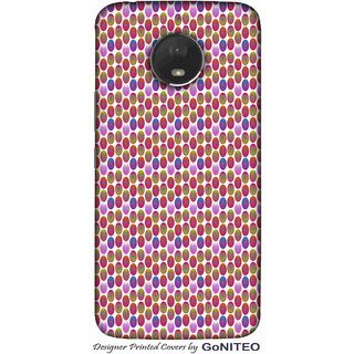 Printed Mobile Phone Back Cover Case for Moto E4 Plus by GoNITEO || Circle || Multi Color || Art ||