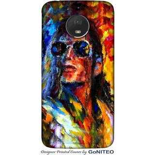 Printed Mobile Phone Back Cover Case for Moto E4 Plus by GoNITEO || Jackson || Painting || Music ||