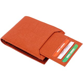 Men Tan Artificial leatehr Wallet