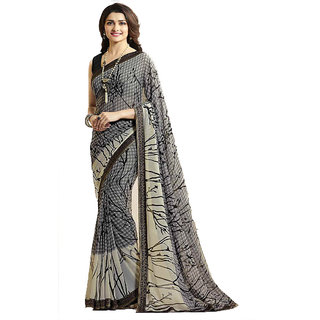 Dhanu Fashion Bollywood Designer Grey Color Printed Saree