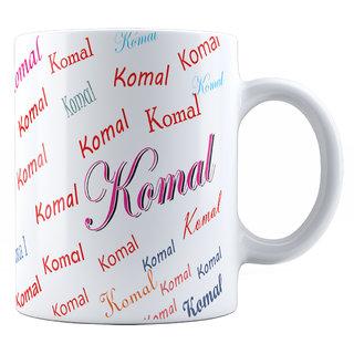 Suvan Special Gift for Girl,Wife,GF,Sister,Mom- KOMAL Name Theme Coffee Ceramic Mug(350ml)
