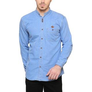 KACLFS1171 - Kuons Avenue Icewash Blue Denim Casual Shirt For Men