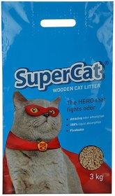 Supercat Wooden Cat Litter (100 Organic) 3Kgs