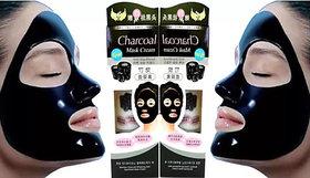 Bamboo Charcoal Anti-Blackhead Suction Mask Cream 130gm - Buy 1 Get 1 Free