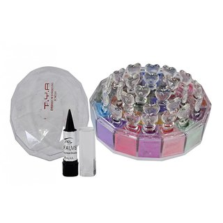 TYA Eyeshadow 24 Color Shades Shimmering Powder (32g) Free Kajal
