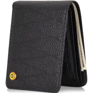 POLLSTAR Slim and Classic Design Handmade Men's wallet with RFID Blocking Secure Credit Card from Identity Theft -WL60BK