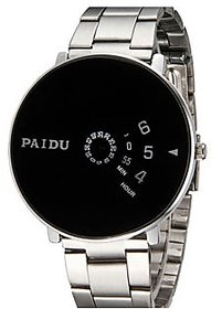 New Paidu Black Watch For Men ,Boys New Look And Latest