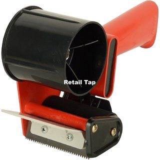 Ikon 3 Inch Manual Hand Operated Tape Dispenser With 3 Inch PVC Transparent Tape Roll