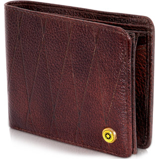 6c1852516452 POLLSTAR Luxury Leather Mens Wallets with Coin Packet and ID Window (WL60BN)
